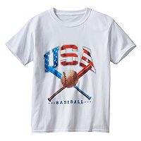 Boys 8-20 USA Baseball Bats Tee