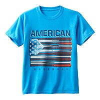Boys 8-20 American Flag Baseball Bat Tee