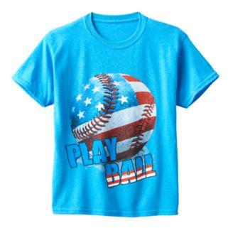 Boys 8-20 American Baseball Tee