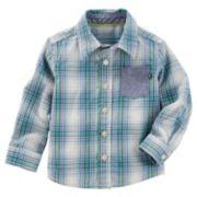 Toddler Boy OshKosh B'gosh® Plaid Button Down Shirt