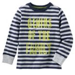 "Toddler Boy OshKosh B'gosh® ""Genius Of The Family"" Striped Tee"