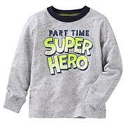 Toddler Boy OshKosh B'gosh® 'Part Time Super Hero' Ringer Tee