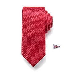 Men's Apt. 9® Patterned Skinny Tie with Pin