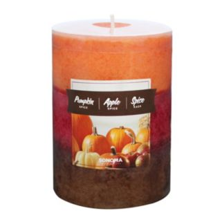 "SONOMA Goods for Life™ 4"" x 3"" Spice Tri-Pour Pillar Candle"