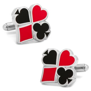 Full Card Suit Cuff Links