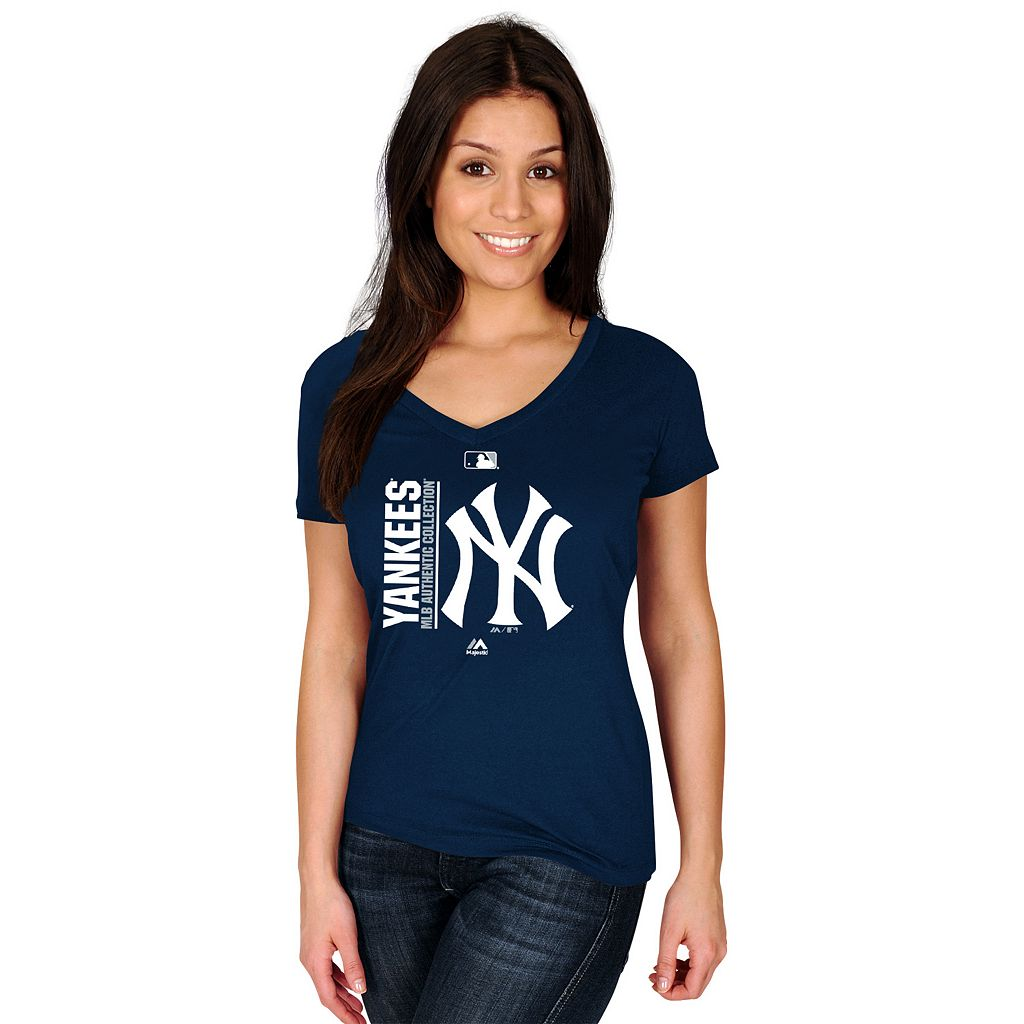 Women's Majestic New York Yankees AC Team Icon Tee