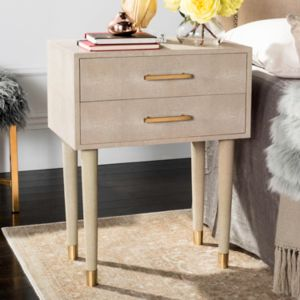 Safavieh Couture Speckled Beige 2-Drawer End Table