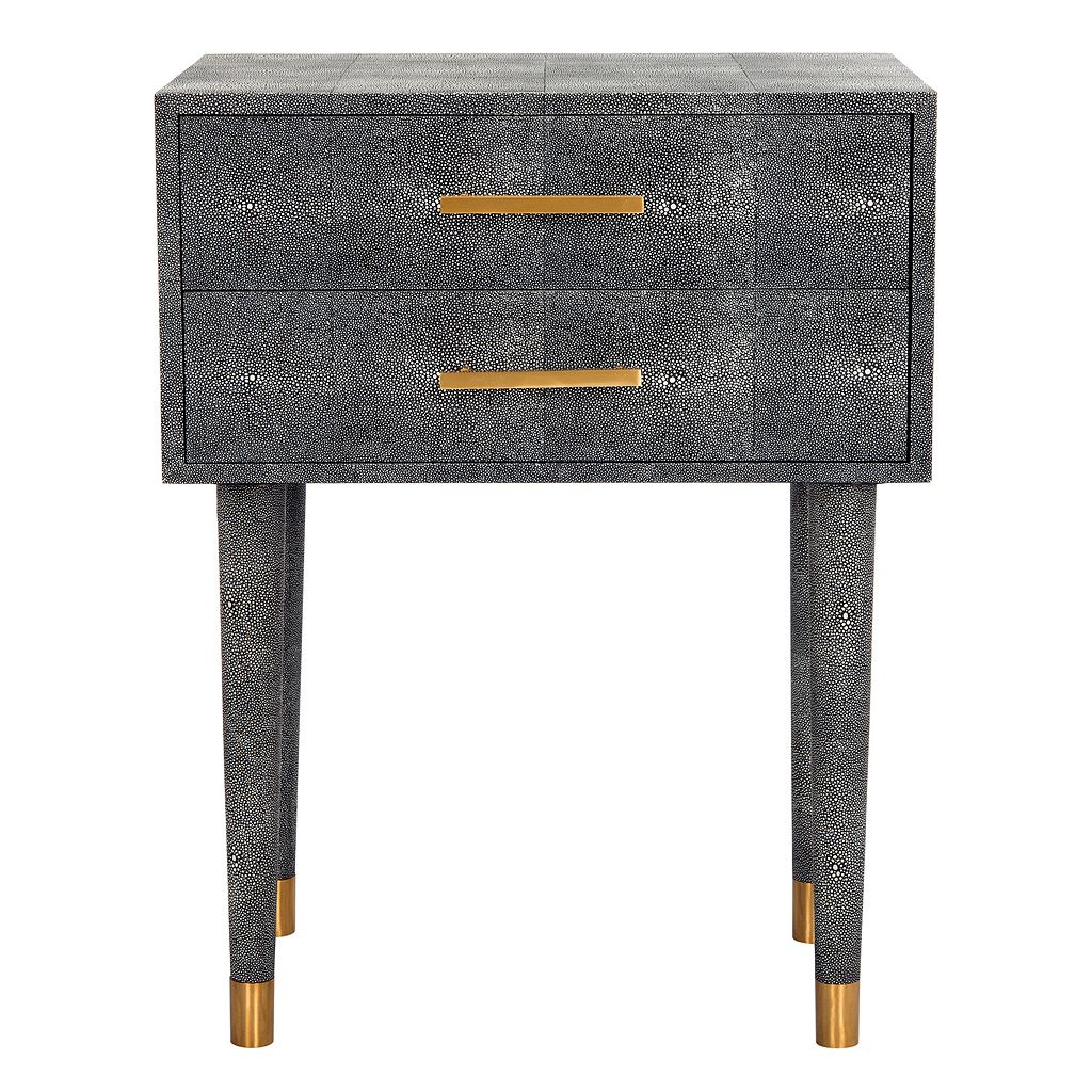 Safavieh Couture Speckled Black 2-Drawer End Table