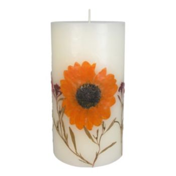 "SONOMA Goods for Life? Falling Leaves 3.25"" x 6"" Pillar Candle"