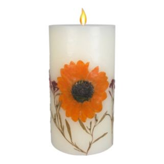 """SONOMA Goods for Life™ Falling Leaves 3.25"""" x 6"""" Pillar Candle"""