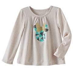 Disney's Minnie Mouse Toddler Girl Glittery Graphic Long Sleeve Tee by Jumping Beans®