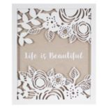 """Life Is Beautiful"" Framed Wall Art"