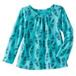 Toddler Girl Jumping Beans® Print Long Sleeve Swing Tee