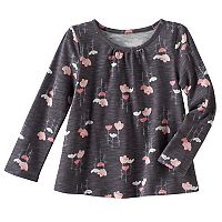 Toddler Girl Jumping Beans® Print Long Sleeve Swing Tee