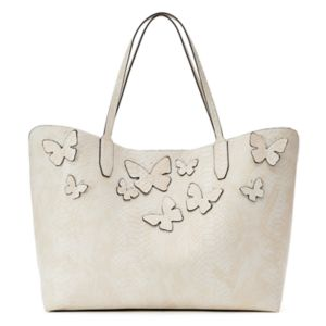 Mondani Kimona Butterfly Applique Double Shoulder Bag