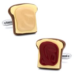 3D Peanut Butter and Jelly Cuff Links