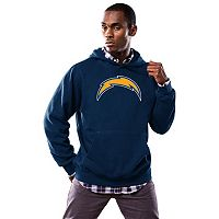 Men's Majestic San Diego Chargers Tek Patch Fleece Hoodie