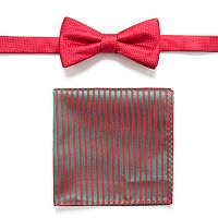 Men's Apt. 9® Geometric Pre-Tied Bow Tie & Pocket Square Set