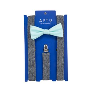 Men's Apt. 9® Tonal-Striped Pre-Tied Bow Tie & Suspenders Set