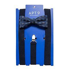 Men's Apt. 9® Tonal-Striped Pre-Tied Bow Tie & Suspenders Set