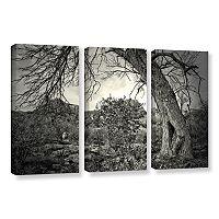 ArtWall Listen To Whispers Canvas Wall Art 3 pc Set
