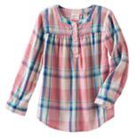 Toddler Girl Jumping Beans® Plaid Lurex Henley