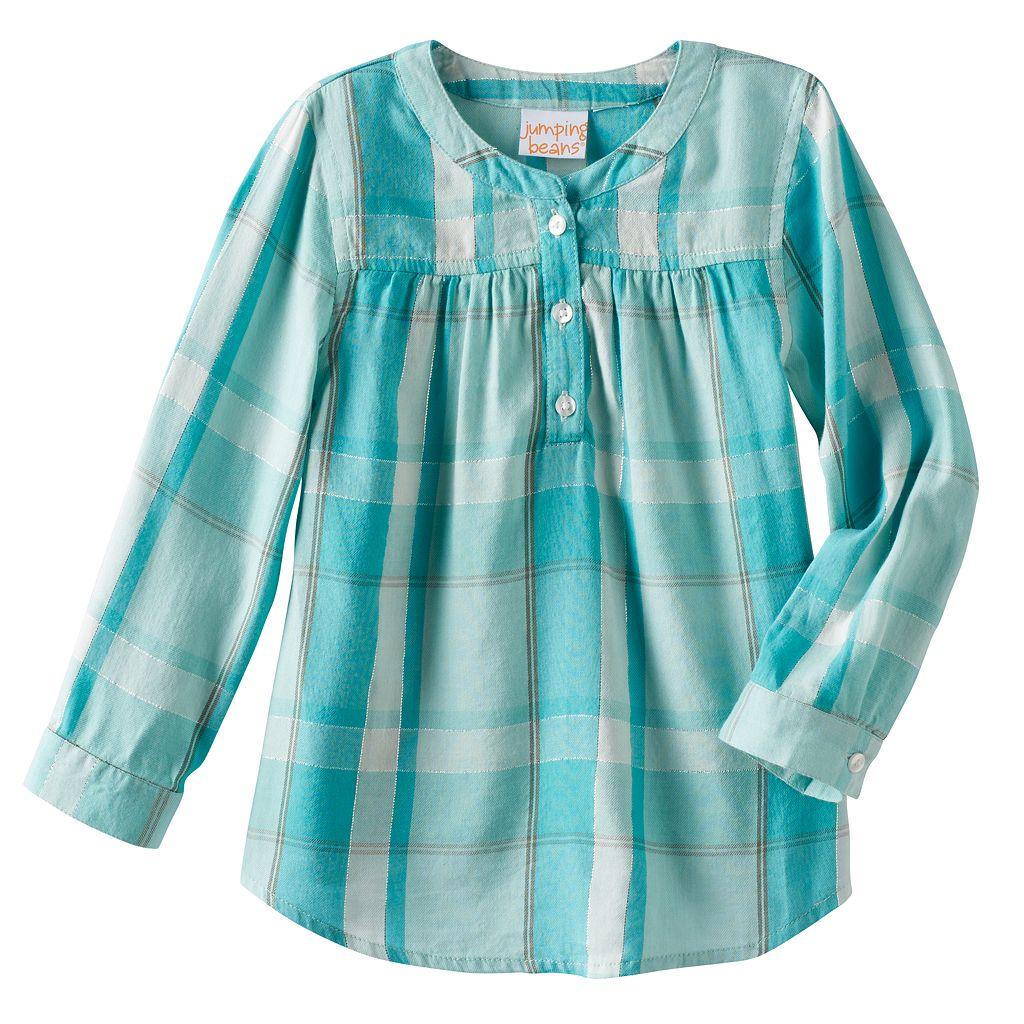 Toddler Girl Jumping Beans® Plaid Lurex Henley