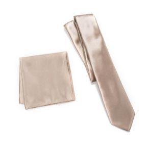Men's Apt. 9® Solid Skinny Tie & Solid Pocket Square Set