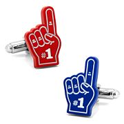 3D Foam Finger Set Cuff Links