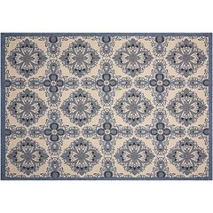 Nourison Caribbean Livelihood Medallion Indoor Outdoor Rug