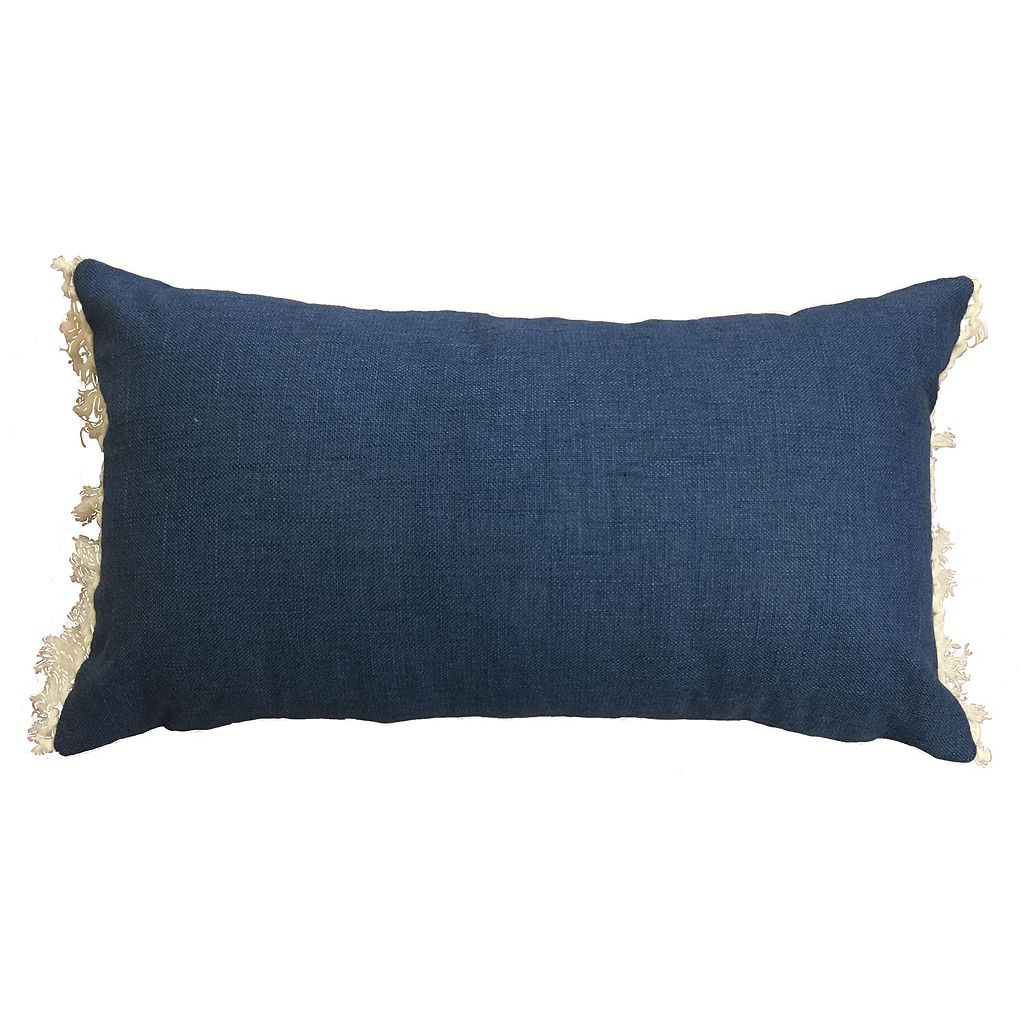 Fringe Oblong Throw Pillow
