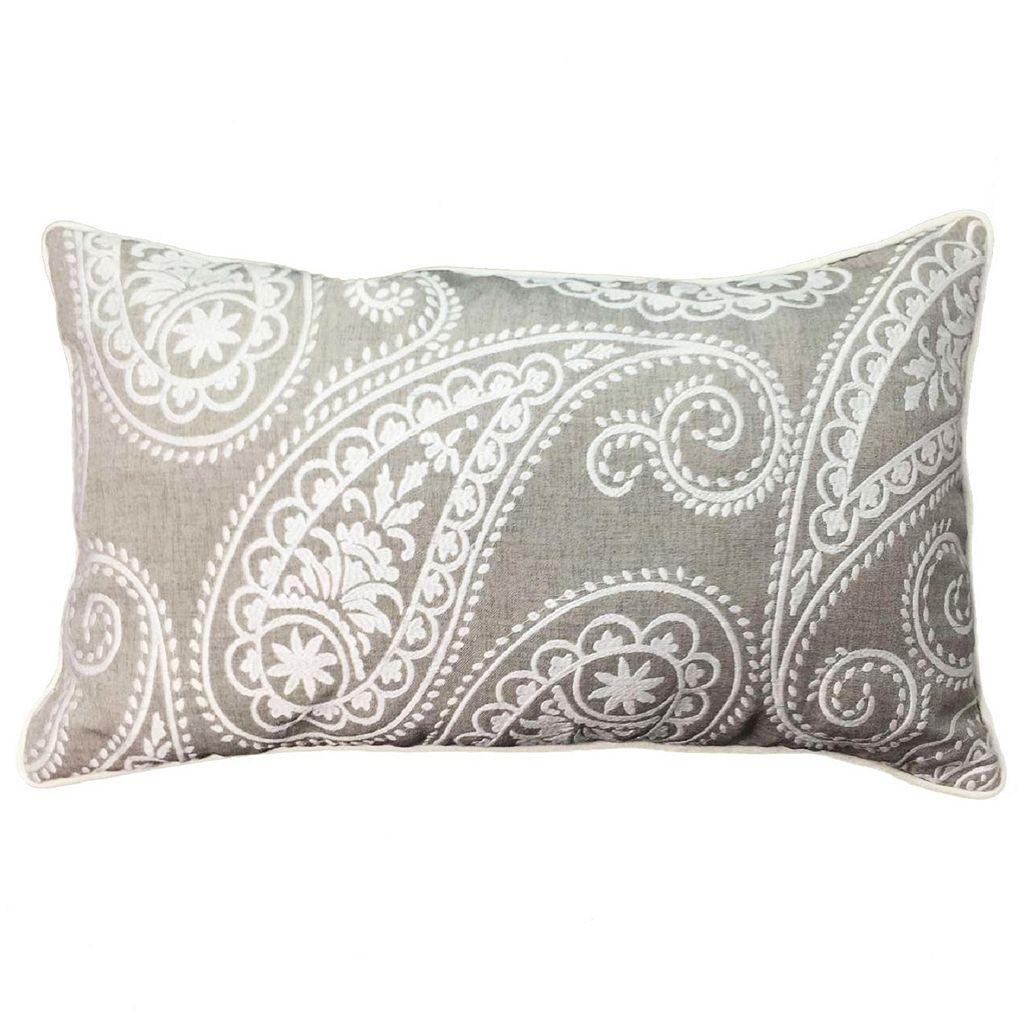 Paisley Oblong Throw Pillow