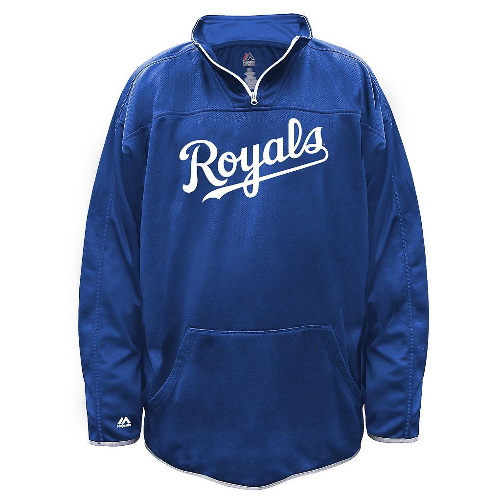Big & Tall Majestic Kansas City Royals Birdseye Pullover