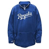 Big & Tall Majestic Kansas City Royals Birdseye Pullover