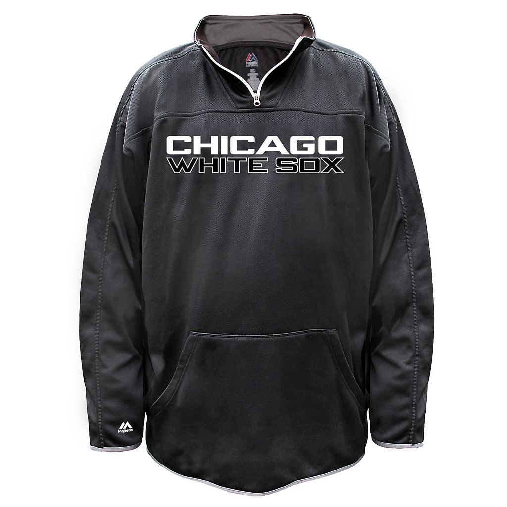Big & Tall Majestic Chicago White Sox Birdseye Pullover