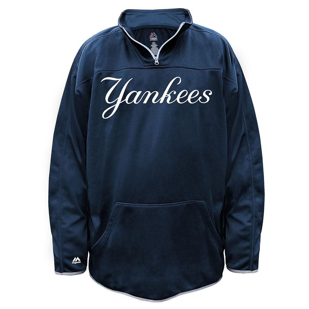 Big & Tall Majestic New York Yankees Birdseye Pullover