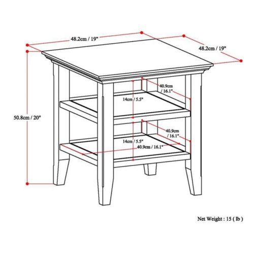 Simpli Home Acadian End Table