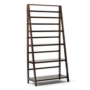 Simpli Home Acadian Wide Ladder Bookshelf