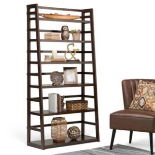 Simpli Home Acadian Wide Bookshelf