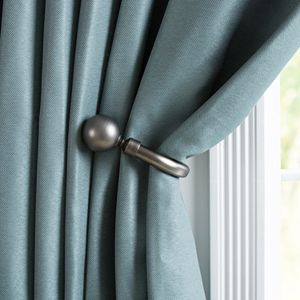 Portsmouth Home 2-pack Solid Sphere Curtain Holdback