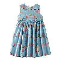 Girls 4-6x Blueberi Boulevard Printed Lace Cut-Out Back Dress