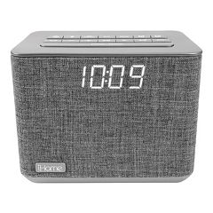 iHome Bluetooth Dual Alarm FM Clock Radio with Speakerphone & USB Charging (iBT232)