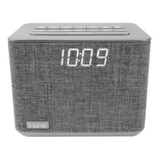 iHome Bluetooth Dual Alarm FM Clock Radio with Speakerphone & USB Charging (iBT232)