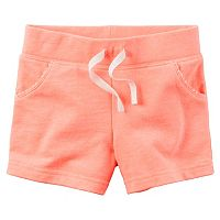Girls 4-8 Carter's Solid French Terry Shorts