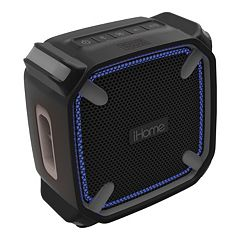iHome Weather-Tough Portable Bluetooth Speaker with Speakerphone & Accent Lighting