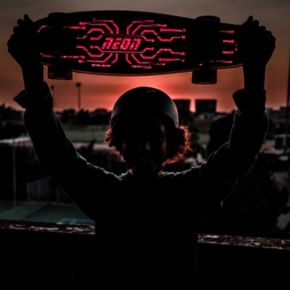 Neon Hype LED Light-Up Skateboard