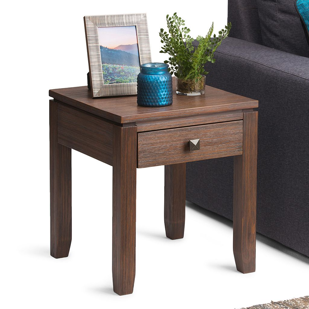 Simpli Home Cosmopolitan 1-Drawer End Table
