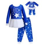 "Girls 4-14 Dollie & Me ""Dreaming With The Stars"" Star Top & Bottoms Pajama Set"