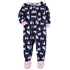 Baby Girl Carter's Cats Fleece Sleep & Play