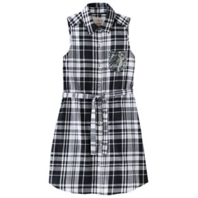 Girls 7-16 & Plus Size SO® Plaid Sleeveless Shirt Dress